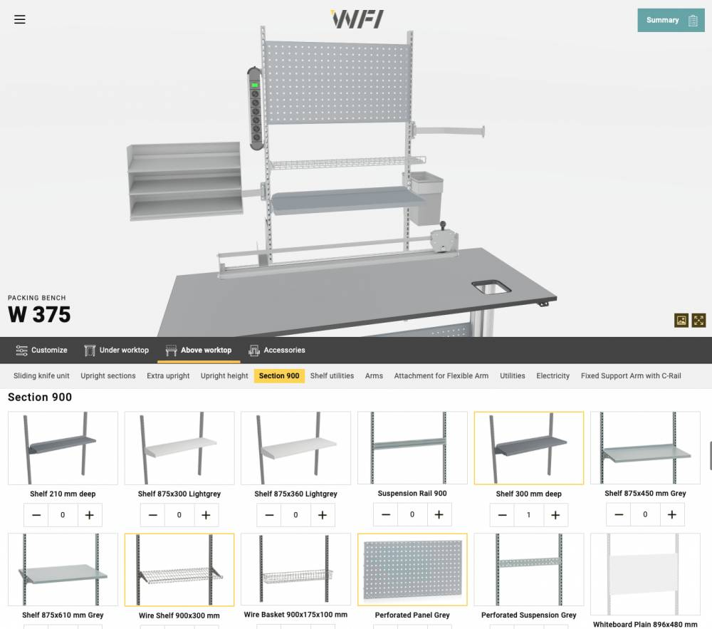 Online workbench builder
