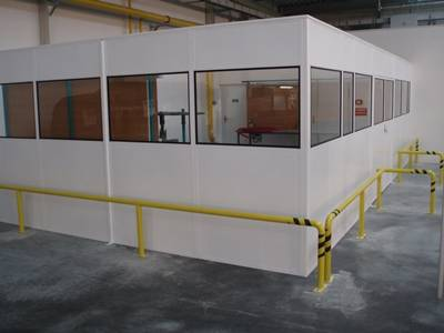 Single Skin Steel Partitioning