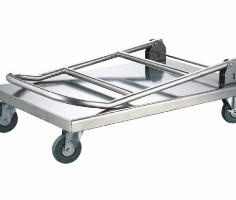 Low Stainless Steel Platform Trolley Folded (16955-0100)