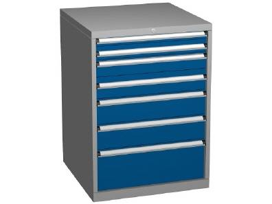 Drawer Storage Cabinet: Dimensions 717 x 725 x 1000mm