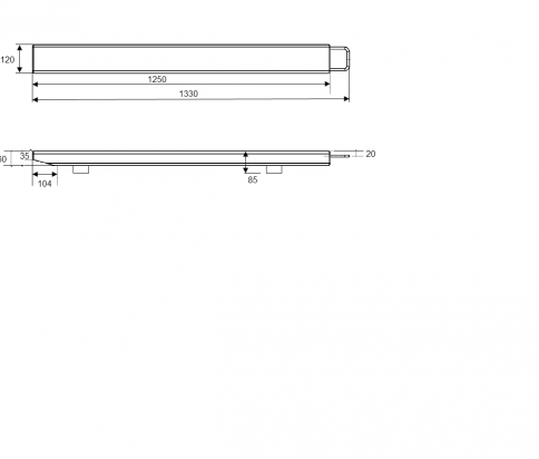 AELP Pallet Beams Dimensions