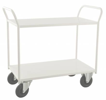 Fully Welded Shelf Trolley White (KM 4126)