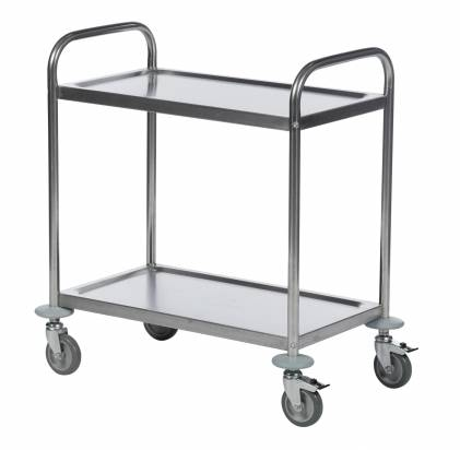 Stainless Steel Trolley 2 Shelves Small (KM 60350)
