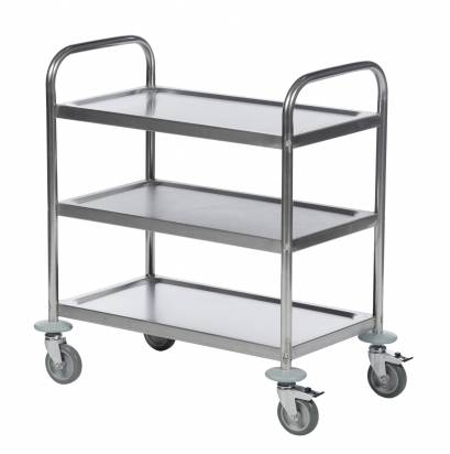 Stainless Steel Trolley 3 Shelves Small (KM 60351)