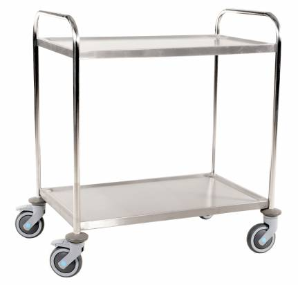 Stainless Steel Trolley 2 Shelves Large (KM 60354)