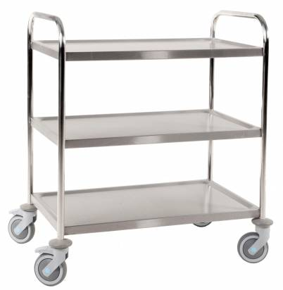Stainless Steel Trolley 3 Shelves Large (KM 60355)
