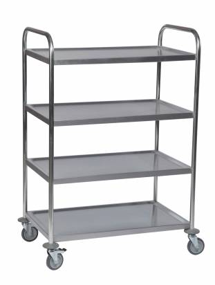Stainless Steel Trolley 4 Shelves Small (KM 60356)