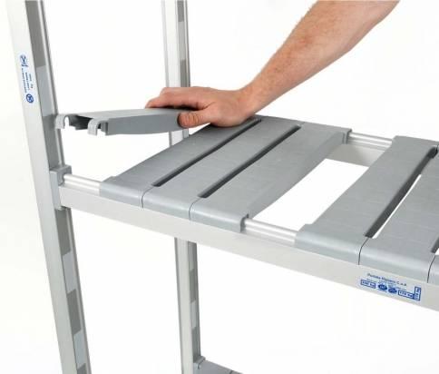 Adjustable shelving units
