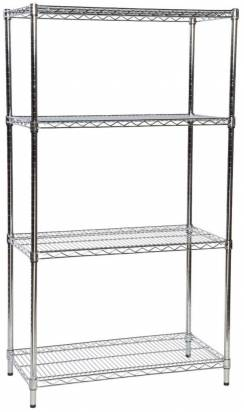 Stainless steel wire shelving unit