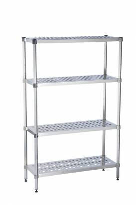 Stainless steel vented shelving unit