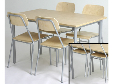 Lunchroom Tables (1200-2400mm Lengths) and Seats