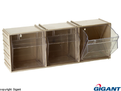 Storage chest, crystal clear, expandable