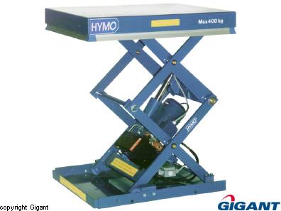 Lift table 1-phase double scissor AXX Hymo