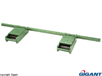 Roller block with accessories