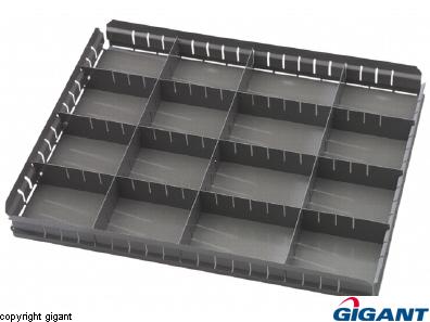 Workshop Drawer Unit of Sheet Steel, Depth 670 mm