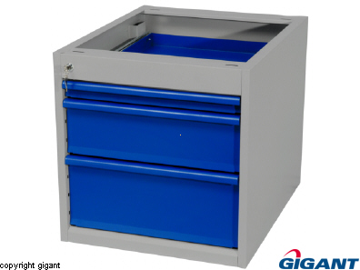 Workshop Drawer Unit of Sheet Steel, Depth 670 mm