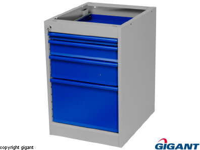 Workshop Drawer Unit of Sheet Steel, Height 800 mm