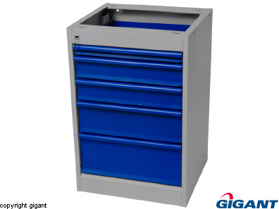 Workshop Drawer Unit of Sheet Steel, depth 500 mm