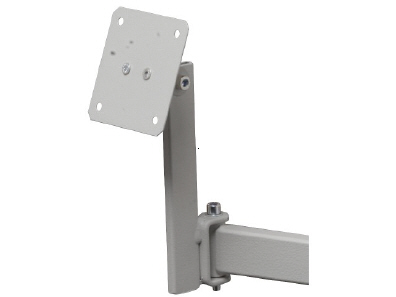 Flatscreen bracket for assembly on pivoted arm