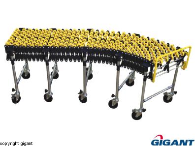 Scissor conveyor with wheels in ABS