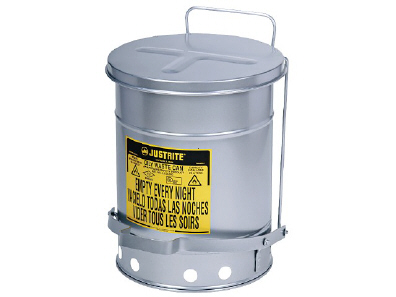Waste container made of steel