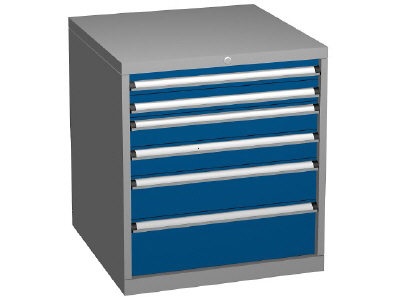 Drawer Storage Cabinet, Height 800mm - 6 Drawer Combinations