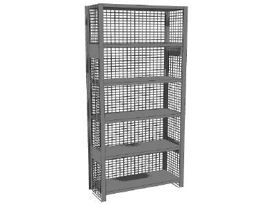 Mesh Ends and Backs for Shelving