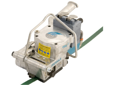 Pneumatic strapping unit
