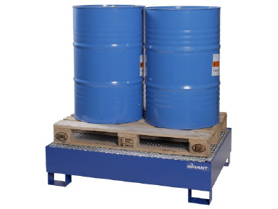 Environmental protection pallets for drum handling 240 l