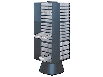 Floor carousel for storage cabinet depth 255 mm Raaco