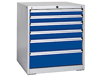 Drawer Storage Cabinet, Heights 800mm - 6 Drawers and 1000mm - 8 Drawers