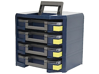 Storage unit for assortment boxes Raaco