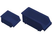 Module bin of Polypropylene width 125 mm Raaco
