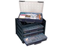 Storage unit for storage boxes Raaco