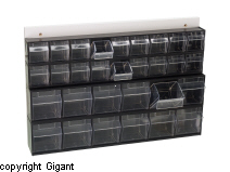 Storage chest, crystal clear, height 410