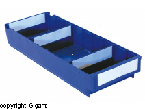 Storage container of polypropylene, blue