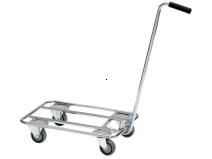 Push-car for plastic bin
