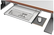 Pull-out keyboard shelf