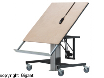 Motorised Workbenches with Tiltable Frame