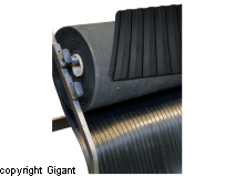 Wide Fluted Rubber Cloth