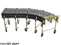 Scissor conveyor with wheels in steel