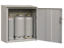 Outdoor gas cabinet