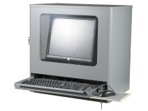 Computer terminal cabinet