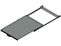 Beam Mounted Pull Out Shelf, Max. Load 200kg