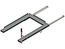 Floor mounted pull out shelf