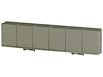 Compartment strip, 6 compartments